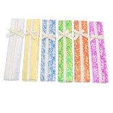 ブレスレットやネックレスのプレゼントに★フォイル花模様6色ペーパージュエリーケース/ギフトボックス24個