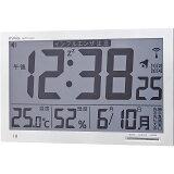 【送料無料】マグ デジタル電波時計 エアサーチ メルスター W-602 WH【電波時計 壁掛け デジタル カレンダー 時計 温度 湿度 大画面 アラーム 熱中症 インフルエンザ 乾燥 快適温度】