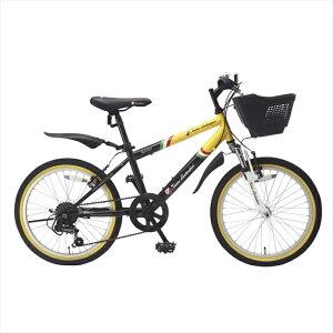 トニーノランボルギーニ CTB206 キッズバイク  TLG-CTB206/YL【子供用自転車 20インチ 6段変速ギア付き 6歳から10歳 こども用 かご付き 男の子 おしゃれ かっこいい】