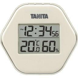 タニタ デジタル温湿度計 アイボリー TT-573IV【温度計 湿度計 デジタル 健康 風邪予防 】[tr]