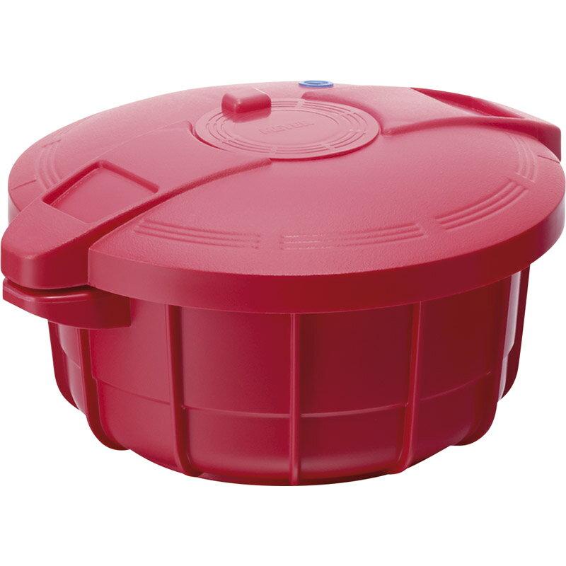 マイヤー 電子レンジ圧力鍋2.3Lイタリアンレッド MPC-2.3 【調理器具 調理道具 料理 電子レンジ調理器 レンジでチン レンチン 簡単調理 】