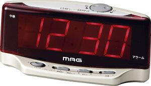 マグ デジラクLEDデジタル時計 T-617 CGM/目覚まし時計 デジタル アラーム スヌーズ LED時刻表...