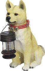 ソーラーライト付柴犬ポチ NK-132/ソーラー 太陽光発電 ライト LED 犬 ガーデンライト 外灯 屋...