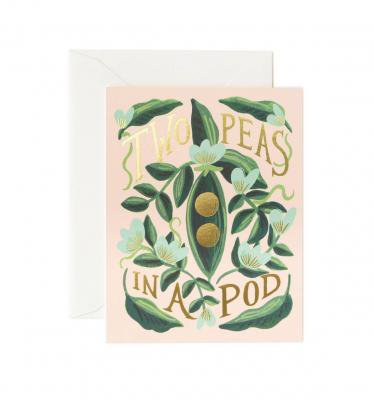 紙製品・封筒, グリーティング・カード RIFLE PAPER CO. TWO PEAS IN A POD (GCL024)