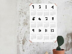 snugによる2015年ポスターカレンダー!snug.studio | SNUG.TOYBLOCKS (white) calendar 2015 | ...