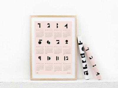 snugによる2015年ポスターカレンダー!snug.studio | SNUG.TOYBLOCKS (soft pink) calendar 201...