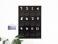 snugによる2015年ポスターカレンダー!snug.studio | SNUG.TOYBLOCKS (black) calendar 2015 | ...