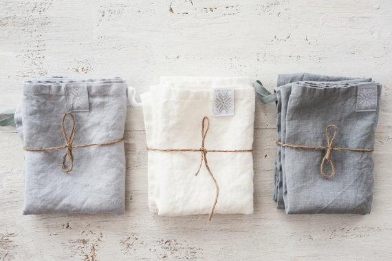 not perfect linen set of 3 linen towels hafen. Black Bedroom Furniture Sets. Home Design Ideas