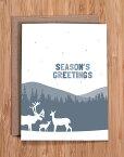 MODERN PRINTED MATTER | SEASON'S GREETINGS - DEER FAMILY | クリスマス | グリーティングカード