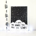 MINILEARNERS|ILOVEYOUMORETHANALLTHESTARS|アートプリント/ポスター(50x70cm)