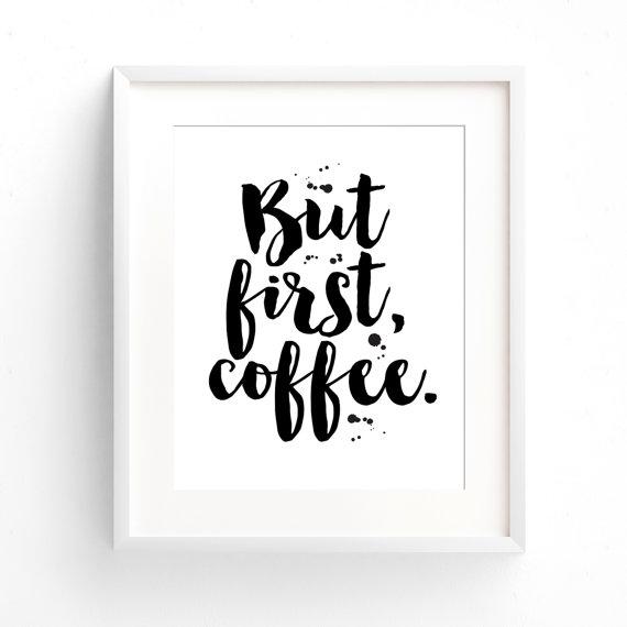 【メール便送料無料】THE LOVE SHOP | BUT FIRST COFFEE | A4 アートプリント/ポスター