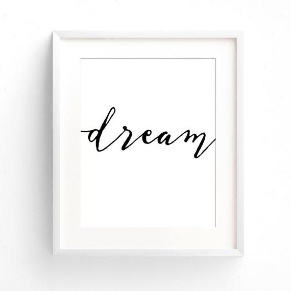 THE LOVE SHOP   SIMPLY DREAM   A2 アートプリント/ポスター【白黒 モノクロ 北欧 シンプル おしゃれ インテリア】