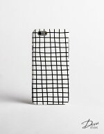 DESSIDESIGNS|CROSSSTRIPES/GRID(white)|iPhone7ケース