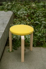 artekxminaperphonen|STOOL60series2dopchoucho(seat:yellow/leg:natural)