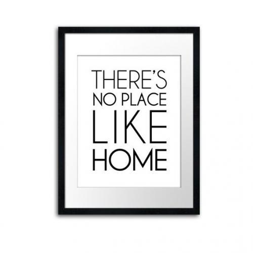 THE LOVE SHOP | THERE'S NO PLACE LIKE HOME | A3 アートプリント/ポスター【白黒 モノクロ 北欧 シンプル おしゃれ インテリア】 シンプル おすすめ かっこいい 人気 白黒 インテリア ポスター アートポスター モノクロ モノトーン スタイリッシュ タイポグラフィ