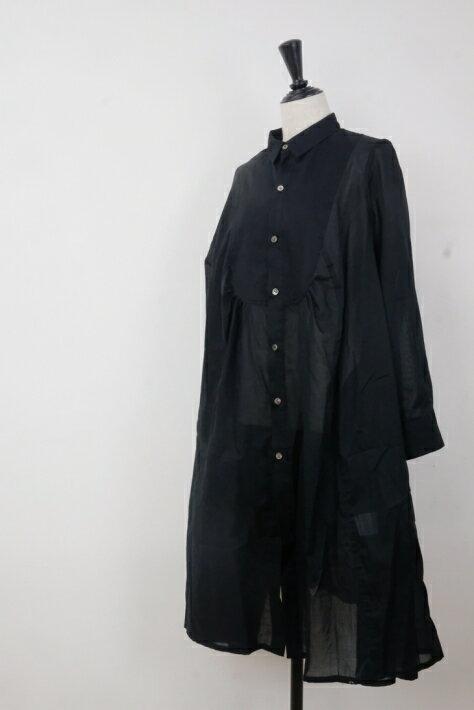 レディースファッション, ワンピース the last flower of the afternoon robe shirt (black)