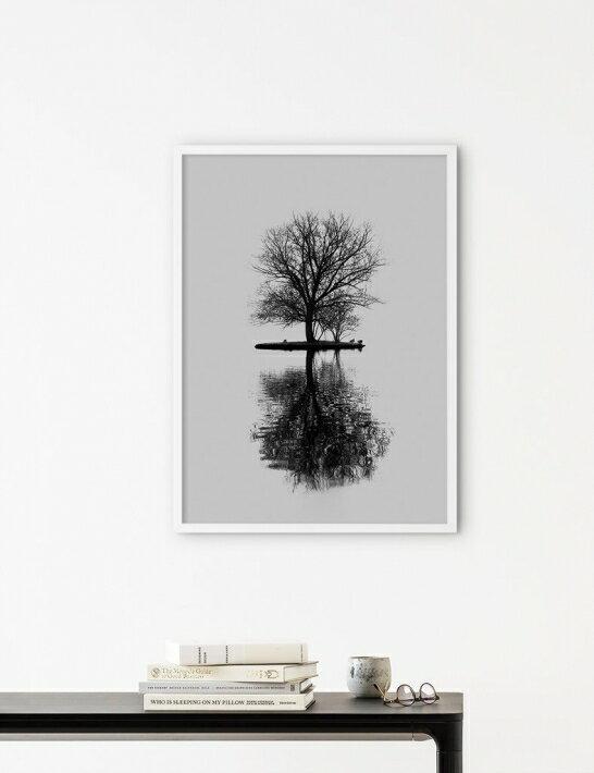 NOUROM | FOGGY ISLAND | アートプリント/ポスター (50x70cm)【北欧 シンプル ミニマル インテリア おしゃれ】
