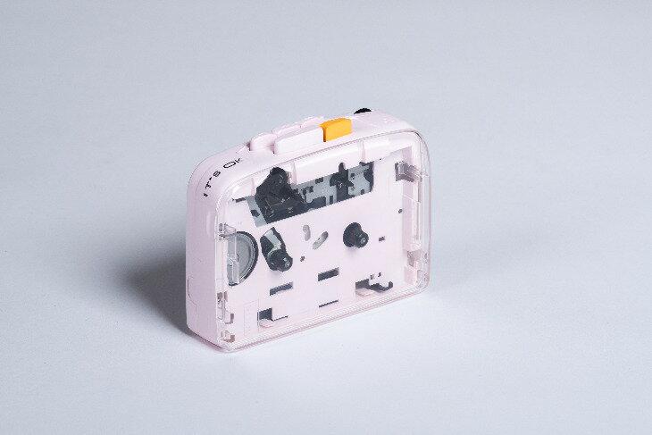 ポータブルオーディオプレーヤー, ポータブルカセットプレーヤー NINM Lab ITS OK Bluetooth 5.0 Cassette Player SAKURA pink