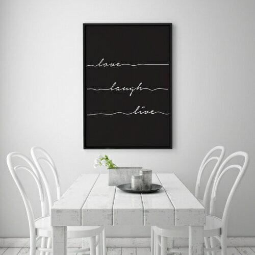 インテリア小物・置物, その他 LOVELY POSTERS LOVE LAUGH LIVE PRINT (50x70cm)