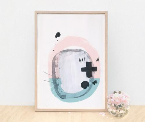 インテリア小物・置物, その他 AMMIKI MODERN ABSTRACT GICLEE PRINT - SOUND A3