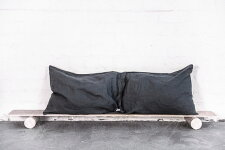 notPERFECTLINEN LINENPILLOWCASE(charcoal) 枕カバー/ピローケース(2枚セット)