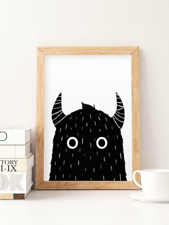 NORSE KIDS | MONSTER PRINT (black) | A3 アートプリント/ポスター
