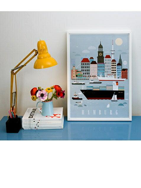 human empire hamburg city poster 50x70cm hafen. Black Bedroom Furniture Sets. Home Design Ideas