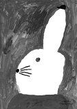 FINE LITTLE DAY   RABBIT WITH SMALL HAT   アートプリント/ポスター (50x70cm)【北欧 インテリア デザイン MOGU TAKAHASHI】