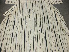 女性レディース浴衣古典よろけ柄浴衣A4点セット・紺細帯