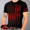 【送料無料!】日本未発売! セール価格! ホットレザー [American Flag Bullets Men's T-Shirt] アメリカンフラッグ ブレッツ メンズ Tシャツ! 半袖 半袖シャツ! 米国 HOTLEATHERS 直輸入! ブラック 黒 スター ストライプ 赤 星条旗 プリントT