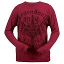【送料無料!】日本未発売! セール価格! ハーレーダビッドソン 純正 限定モデル! 激安 在庫限り 希少品! [Harley Davidson] 正規品 [Men's Legendary Eagle Rumble Red T-Shirt] メンズ 長袖 レジェンダリー イーグル ランブルレッド Tシャツ ロンT ロゴ バイク バイカーに!