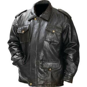 イタリアン ストーン デザイン ジェニュイン ブラック フィールド ジャケット ライダースジャケット プレゼント