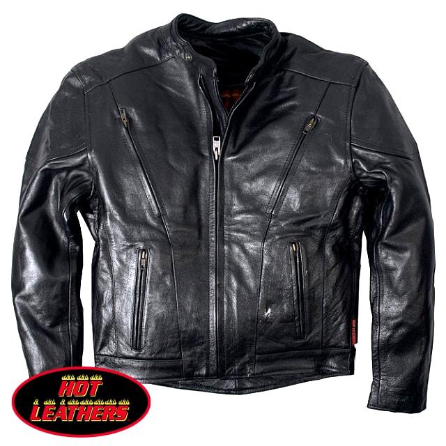 【送料無料!】米国直輸入! ホットレザー [Lace-Up Vented Motorcycle Leather Jacket] レースアップ ベンテッド モーターサイクル レザー ジャケット! 本革 ブラック ライダースジャケット 編み上げ 革ジャン 裏地メッシュ インナー取外OK! ベント機能装備!