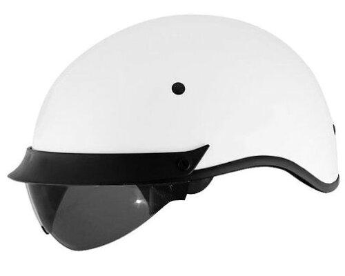 限定価格!日本では珍しいハーフヘルメットでインナースモークシールド装備!レバー操作で簡単開閉...
