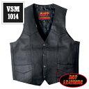 【送料無料!(条件あり)】日本未発売!米国直輸入! ホットレザー 本革 2ポケット ブラック レザーベスト! シンプル クラシックスタイル 黒 メンズ カウハイドレザー [Cowhide Leather Vest] ベスト用アクセサリーに対応! バイクに! 大きいサイズ