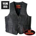 楽天【送料無料!(条件あり)】日本未発売!米国直輸入! ホットレザー 本革 サイドレースアップ ブラック レザーベスト! ウエスト調節可能な両側編み上げスタイル! 黒 カウハイドレザー メンズ [Cowhide Leather Vest] ベスト用アクセサリーに対応! バイクに! 大きいサイズ