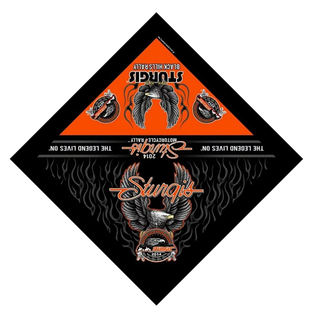 ハンカチ・ハンドタオル, バンダナ ! Sturgis Motorcycle Rally Official 2014 Upwing Eagle Bandana ! ! ! !