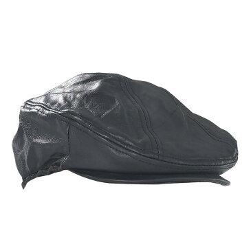 【送料無料!】ソリッド ジェニュイン ブラック レザー ハンチング帽・ドライビングキャップ・Giovanni Navarre・本革・牛革・帽子!米国直輸入!日本未発売!激安!メンズ・ワンサイズ・黒・ハンチングキャップ・Driving Cap・プレゼントに!