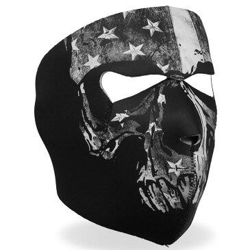 【送料無料!】日本未発売!米国直輸入!セール価格! ホットレザー [Gray Skull Flag Face Mask] グレー スカル フラッグ ネオプレン リバーシブル フェイスマスク! 星条旗 骸骨 ブラック 黒 日焼け防止 覆面 フルフェイス 防風・防寒 バイカー バイクに! サバゲーに!