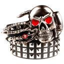 【送料無料!】全9種類! [Skull's Hand Metal Buckle Belt With Full Rivet] スカル・ハンド・メタル・バックル・ベルト・ウィズ・フル・リベット! メンズ PUレザー ブラック スタッズ パンク ゴシック 骸骨 手 ハート バイカー ロック スクエア リベット