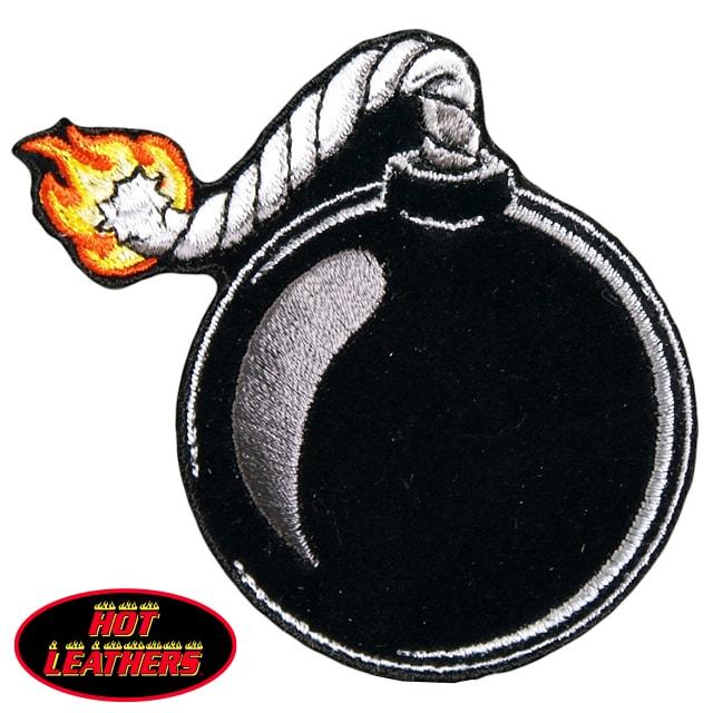 【送料無料!】日本未発売! セール価格! ホットレザー [Ball Bomb Patch] ボール・ボム ワッペン! グレネード 爆弾 パッチ 米国バイカー専門アパレルブランド HOTLEATHERS 直輸入! ウェアのカスタムに! 布製 アイロン対応 サイズ小