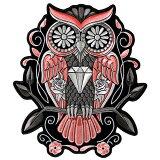 【送料無料!】日本未発売! セール価格! ホットレザー 選べる2サイズ! [Owl Patch] アウル ワッペン! 梟 フクロウ 鳥 パッチ 米国バイカー専門ブランド HOTLEATHERS 直輸入! ウェアのカスタムに! 布製 アイロン対応 サイズ大小