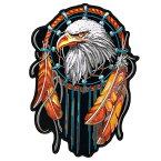 【送料無料!】日本未発売! セール価格! ホットレザー 2サイズ! [Eagle Dream Catcher Patch] イーグル ドリームキャッチャー ワッペン! 鷲 インディアン パッチ 米国バイカー専門ブランド ホットレザーから直輸入! ウェアのカスタムに! 布製 アイロン対応 サイズ大