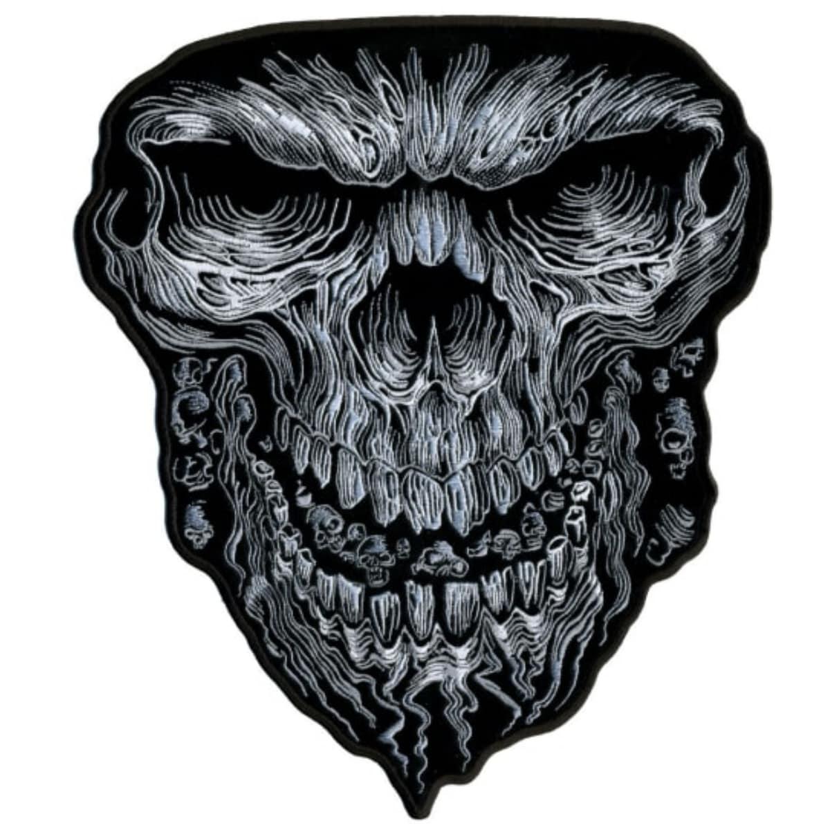 裁縫材料, ワッペン・アップリケ !! ! 2! Giant Skull Patch ! ! !