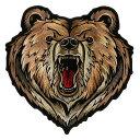 【送料無料!】日本未発売! セール価格! ホットレザー 選べる2サイズ! [Bear Patch] ベアー ワッペン! 熊 グリズリー クマ パッチ 米国バイカー専門ブランドから直輸入! ウェアのカスタムに! 布製 アイロン対応 サイズ大小