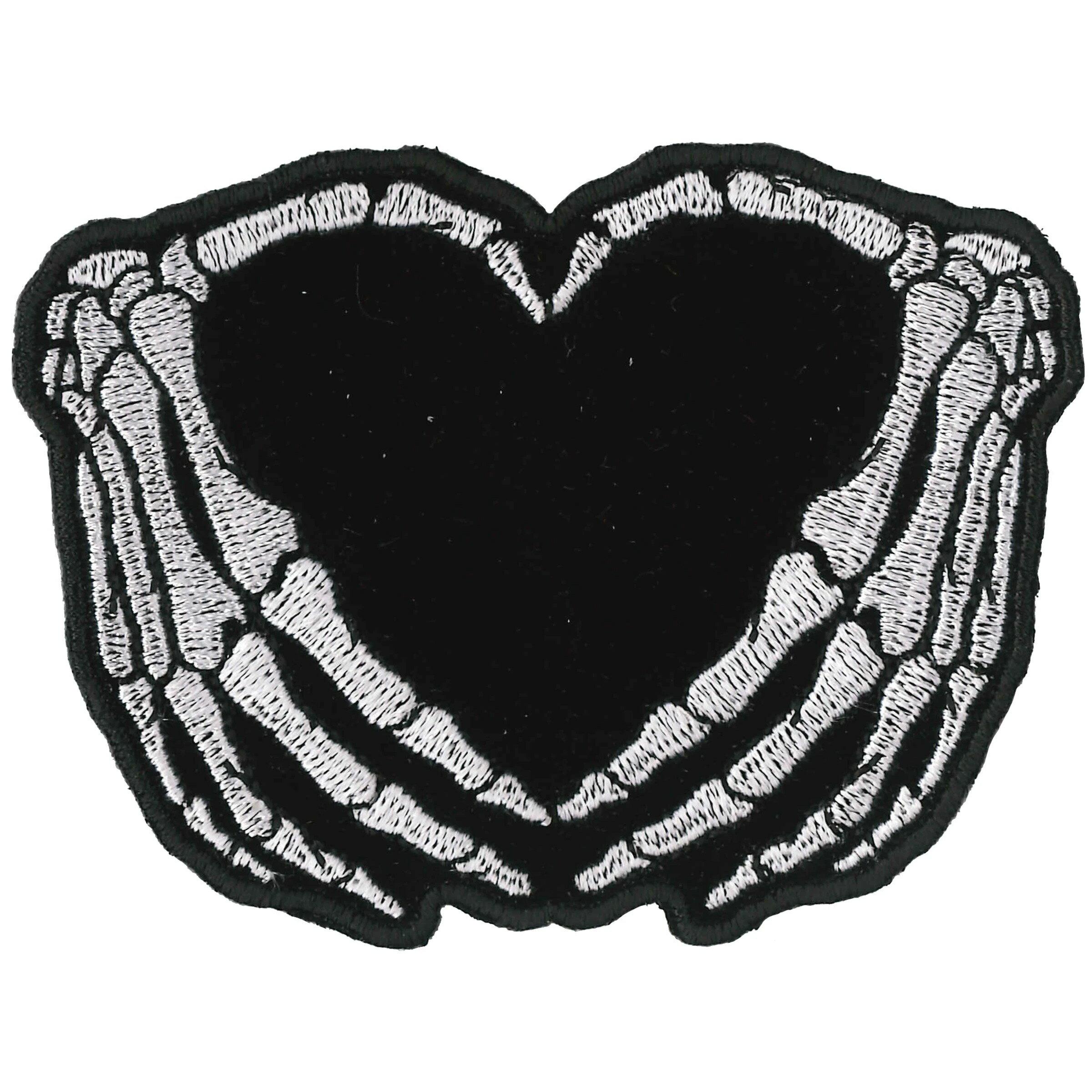 裁縫材料, ワッペン・アップリケ ! 2! Skeleton Heart ! HOTLEATHERS ! !