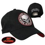 【送料無料!】日本未発売! セール価格! ホットレザー [Live Free Ride Hardcore Skull Ball Cap] リブ・フリー・ライド・フリー・ハードコア・スカル・ボールキャップ! ベースボール キャップ 野球帽 帽子 ベルクロ調節 ワッペン 米国 HOTLEATHERS 直輸入!