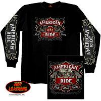 米国バイカーブランド「ホットレザー」ClassicLabelロングTシャツ(ハーレー)