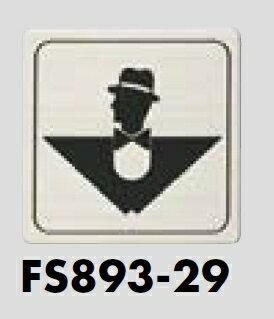 メール便可 ステンレス製サインプレート 男性 80×80 E