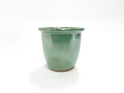 萬古焼 エン付ウチョウラン鉢 オリベ3.5号 山野草鉢 根が張りやすく、通気がよい、植物に合わせやすい鉢です。A07-27